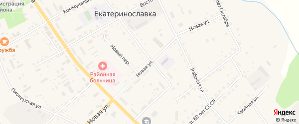 Новая улица на карте села Екатеринославки с номерами домов