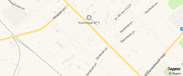 Пионерский переулок на карте села Екатеринославки с номерами домов