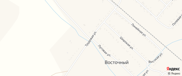 Трудовая улица на карте Восточного поселка с номерами домов