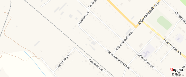 Переселенческая улица на карте Восточного поселка с номерами домов