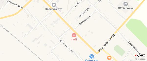 Зеленая улица на карте села Екатеринославки с номерами домов