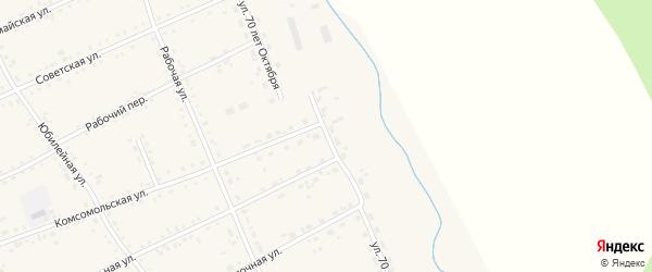 Улица 70 лет Октября на карте села Екатеринославки с номерами домов