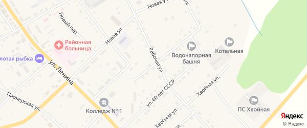 Улица Мелиораторов на карте села Екатеринославки с номерами домов