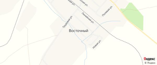 Карта Восточного поселка в Амурской области с улицами и номерами домов