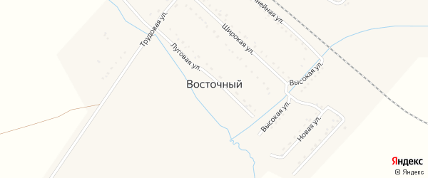 Юбилейный переулок на карте Восточного поселка с номерами домов
