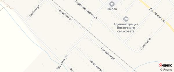 Линейная улица на карте Восточного поселка с номерами домов