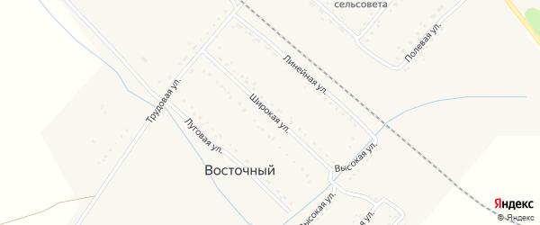 Широкая улица на карте Восточного поселка с номерами домов