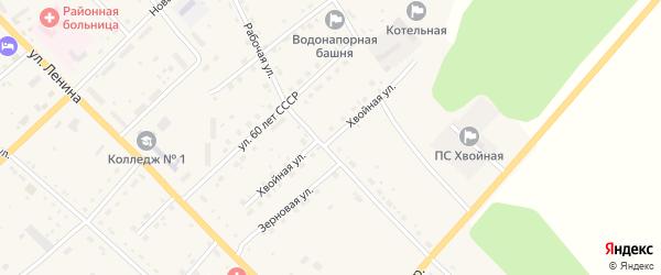 Хвойная улица на карте села Екатеринославки с номерами домов