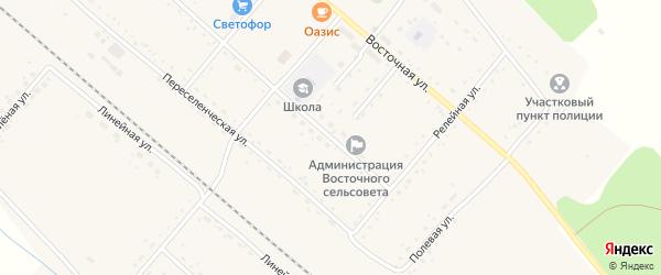 Юбилейная улица на карте Восточного поселка с номерами домов