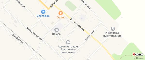 Садовый переулок на карте Восточного поселка с номерами домов