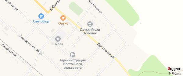 Восточная улица на карте Восточного поселка с номерами домов