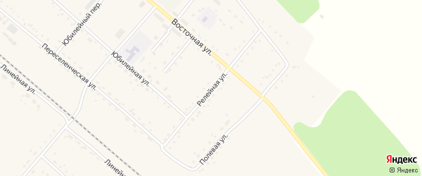 Релейная улица на карте Восточного поселка с номерами домов