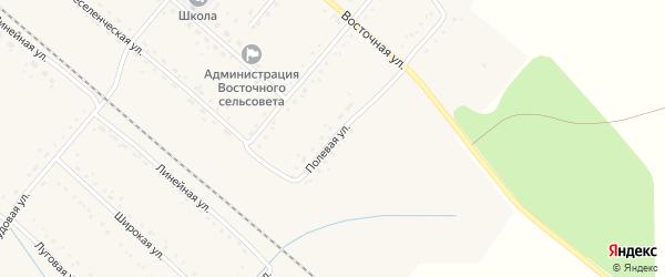 Полевая улица на карте Восточного поселка с номерами домов