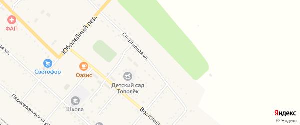 Спортивная улица на карте Восточного поселка с номерами домов