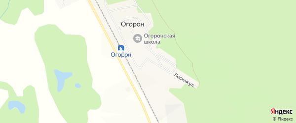 Карта поселка Огорона в Амурской области с улицами и номерами домов