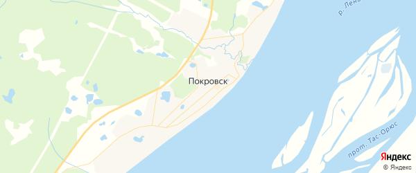 Карта Покровска с районами, улицами и номерами домов