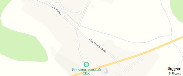 Улица Горького на карте села Ивановки с номерами домов