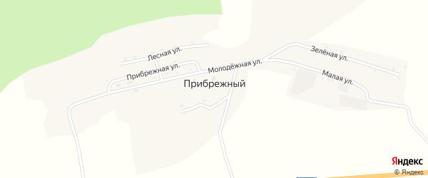 Зеленая улица на карте Прибрежного поселка с номерами домов