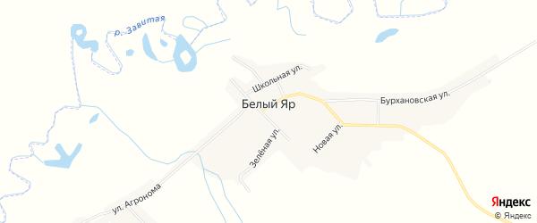 Карта села Белого Яра в Амурской области с улицами и номерами домов