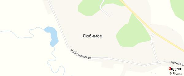 Набережная улица на карте Любимого села с номерами домов