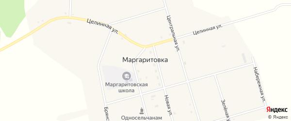 Зеленая улица на карте села Маргаритовка с номерами домов