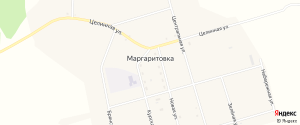 Полевая улица на карте села Маргаритовка с номерами домов