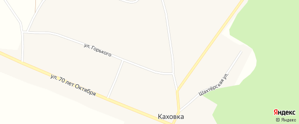 Улица Лазо на карте села Каховки с номерами домов