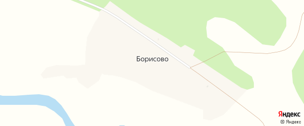Улица Борисова на карте села Борисово с номерами домов