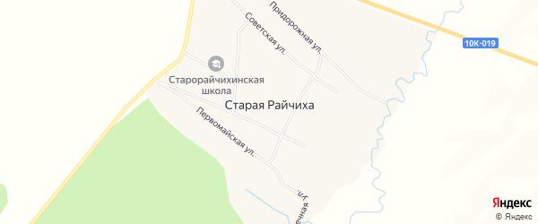 Карта села Старой Райчихи в Амурской области с улицами и номерами домов