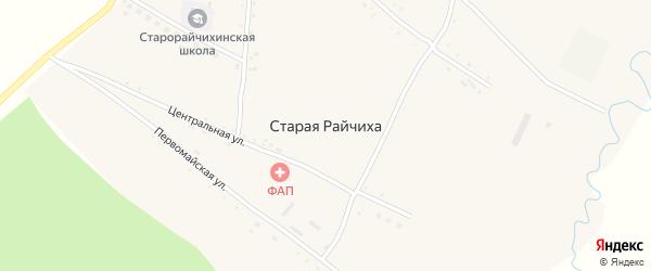 Придорожная улица на карте села Старой Райчихи с номерами домов