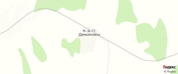 Карта села Демьяновки в Амурской области с улицами и номерами домов