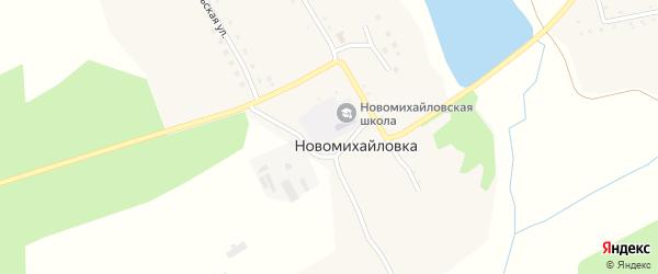 Коммунальная улица на карте села Новомихайловки с номерами домов