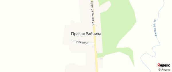 Центральная улица на карте села Правой Райчихи с номерами домов
