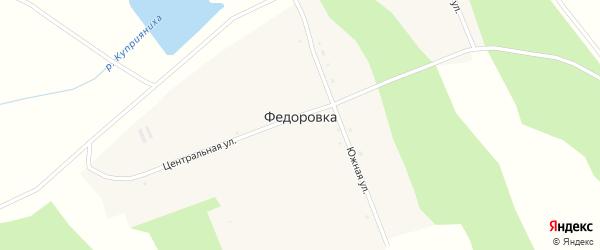 Дальняя улица на карте села Федоровки с номерами домов