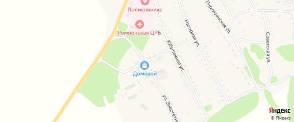 Флотский переулок на карте села Ромен с номерами домов