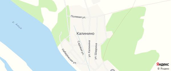 Карта села Калинино в Амурской области с улицами и номерами домов