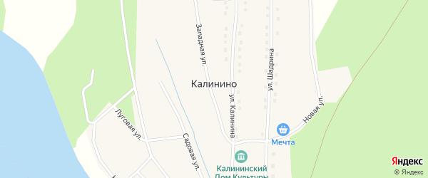 Улица Калинина на карте села Калинино с номерами домов