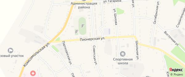 Пионерская улица на карте села Ромен с номерами домов