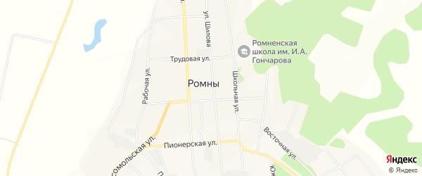 Карта села Ромен в Амурской области с улицами и номерами домов