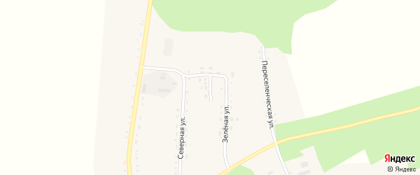 Молодежный переулок на карте села Ромен с номерами домов