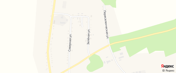 Зеленая улица на карте села Ромен с номерами домов