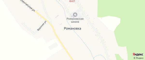 Лесной переулок на карте села Романовки с номерами домов