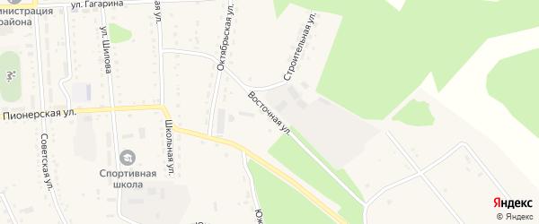 Восточная улица на карте села Ромен с номерами домов