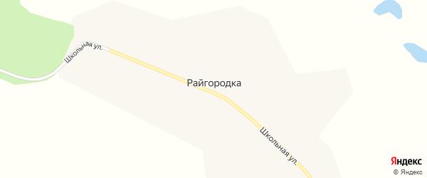 Школьная улица на карте села Райгородки с номерами домов