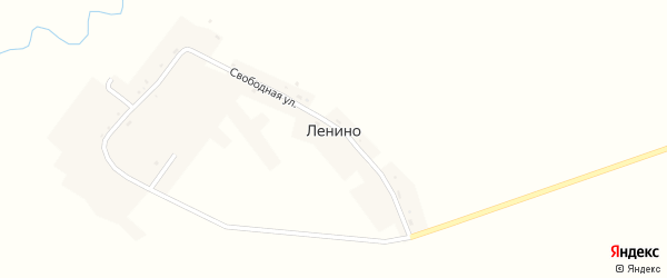 Свободная улица на карте села Ленино с номерами домов