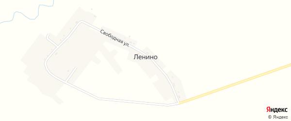 Нижняя улица на карте села Ленино с номерами домов