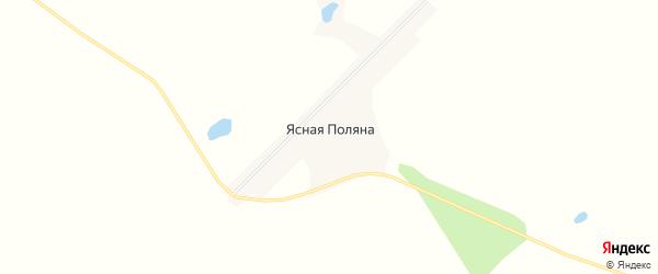 Карта села Ясной Поляны в Амурской области с улицами и номерами домов