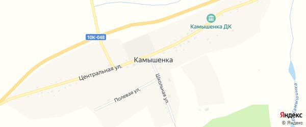 Полевая улица на карте села Камышенки с номерами домов