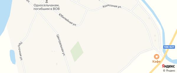 Луговая улица на карте Углового села с номерами домов