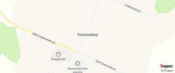 Зеленая улица на карте села Калиновки с номерами домов